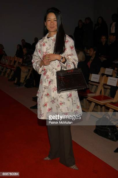 Helen Schifter attends Douglas Hannant Fashion Show at at the Promenade on February 10, 2004 in New York City.
