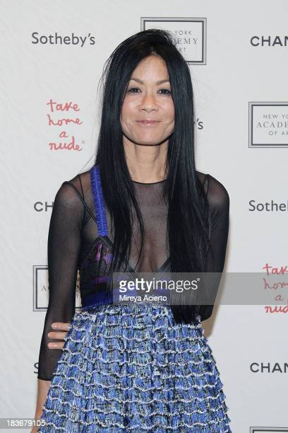 """Helen Schifter attends the 2013 """"Take Home A Nude"""" Benefit Art Auction And Party at Sotheby's on October 8, 2013 in New York City."""