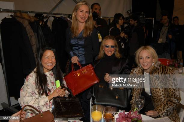 Helen Schifter Valesca Guerand Hermes Patty Raynes Pamela Gross Finkelstein attend Douglas Hannant Champagne Breakfast prior to his Fashion Show at...