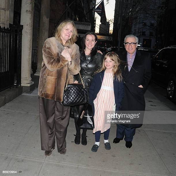 Helen Scorsese Domenica CameronScorsese Francesca Scorsese and Martin Scorsese are seen after Easter dinner in midtown restaurant April 12 2009 in...