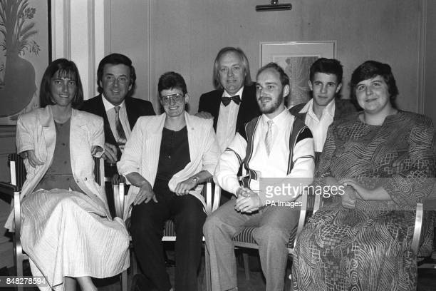 Helen Scott Monica Vaughan Alan Yewdall Blind Judo champion Simon Jackson and Anne Ligg with Tim Rice and Terry Wogan back row left at the Lords...