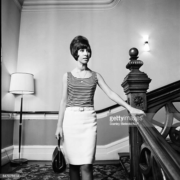 Helen Shapiro in a Manchester hotel United Kingdom 1965
