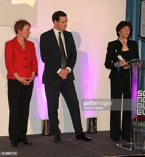 Helen Sharman George Osborne and Dame Mary Archer attend the opening of the Science Museum's new interactive gallery 'Wonderlab' on October 11 2016...