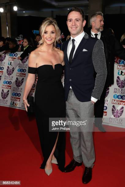 Helen Skelton and Richie Myler attend the Pride Of Britain Awards at Grosvenor House on October 30 2017 in London England