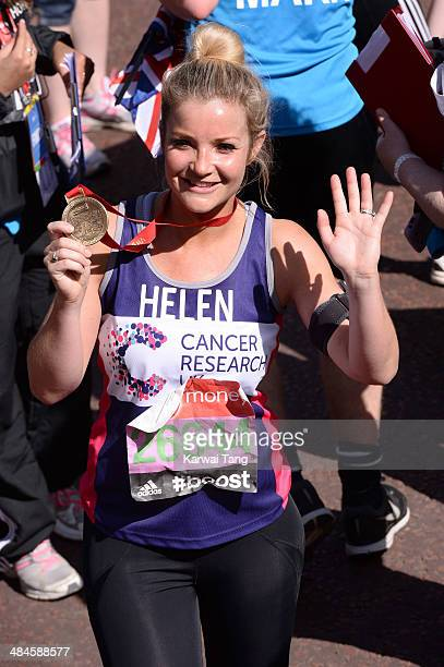Helen Skelton takes part in the 2014 London Marathon on April 13 2014 in London England
