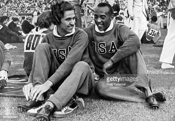 Helen Stephens and Jesse Owens American athletes Berlin Olympics 1936 The two won six gold medals between them Stephens in the women's 100 metres and...