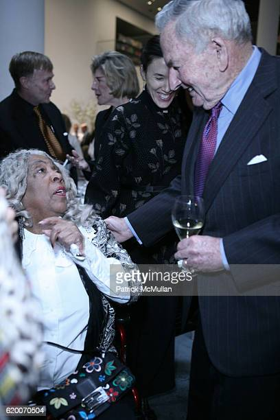 Helen Stewart and David Rockefeller attend The Museum of Modern Art Honors Peter G Peterson with the David Rockefeller Award at The Museum of Modern...