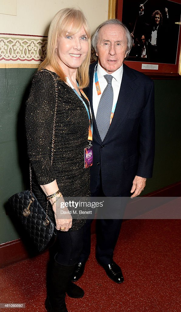 Helen Stewart and Jackie Stewart attend the VIP performance of 'Kooza' by Cirque Du Soleil at Royal Albert Hall on January 6, 2015 in London, England.