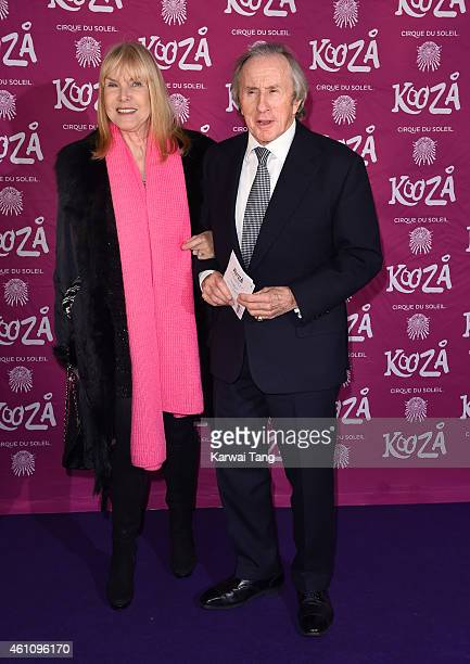 Helen Stewart and Jackie Stewart attend the VIP performance of Kooza by Cirque Du Soleil at Royal Albert Hall on January 6 2015 in London England