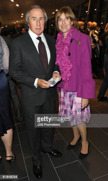 Helen Stewart and Sir Jackie Stewart attends the opening of the new Audi Showroom on October 12 2009 in London England