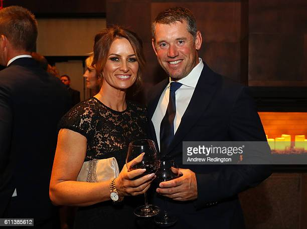 Helen Storey and Lee Westwood of Europe attend the 2016 Ryder Cup Gala on September 28 2016 in Minneapolis Minnesota