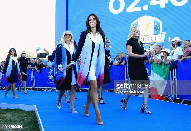 Helen Storey arrives to the opening ceremony for the 2018 Ryder Cup at Le Golf National on September 27, 2018 in Paris, France.
