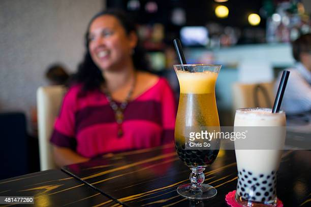 Helen Stratigos with cold drinks with tapioca balls at Tealicious Tea House off Midland Avenue Helen a Scarborough mom and blogger shows us her...
