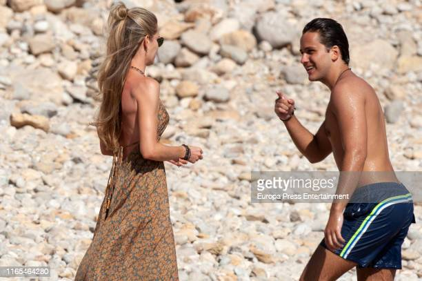 Helen Svedin and Jacobo Duran are seen on July 16 2019 in Ibiza Spain