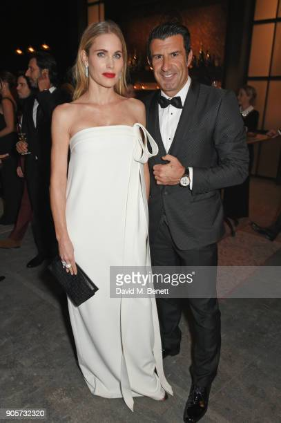 Helen Svedin and Luis Figo attend the IWC Schaffhausen Gala celebrating the Maison's 150th anniversary and the launch of its Jubilee Collection at...
