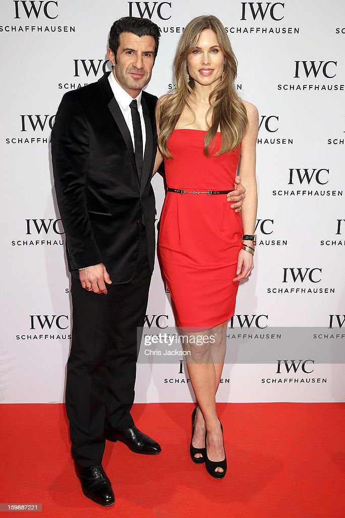 Helen Svedin and Luis Figo attend the IWC Schaffhausen Race Night event during the Salon International de la Haute Horlogerie (SIHH) 2013 at Palexpo on January 22, 2013 in Geneva, Switzerland.