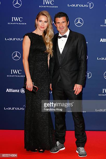 Helen Svedin and Luis Figo attend the Laureus World Sports Awards 2016 at the Messe Berlin on April 18 2016 in Berlin Germany