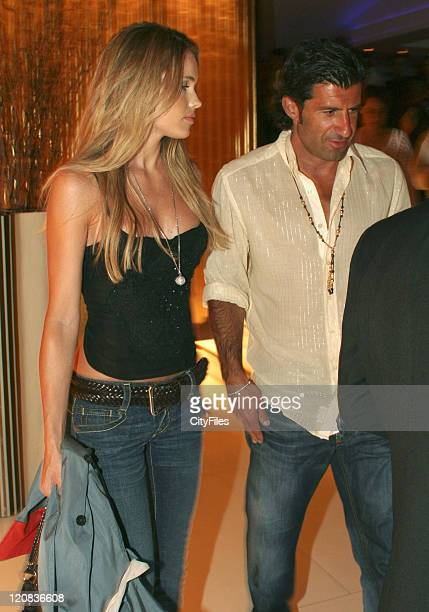 Helen Svedin and Luis Figo during Luis Figo and Helen Svedin Sighting at Santa Eulalia Resort July 27 2006 at Santa Eulalia Resort in Algarve Portugal