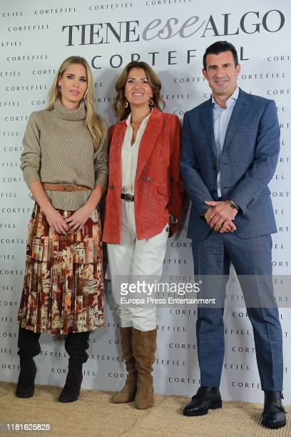 Helen Svedin and Luis Figopresent new Cortefiel campaign at Los Gallos on October 17 2019 in Madrid Spain