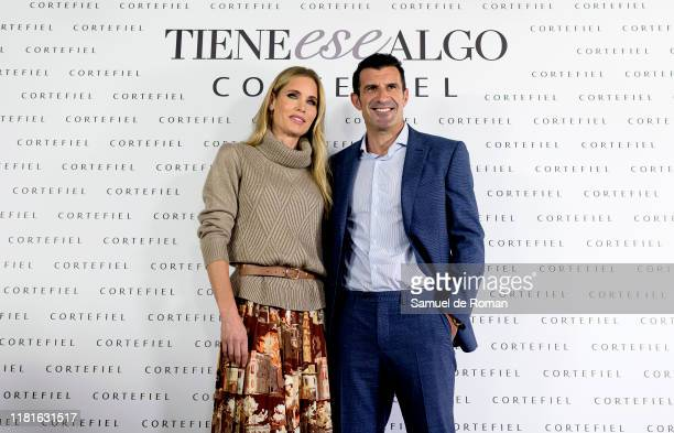 Helen Svedin and Luis Figo present new Cortefiel campaign at Los Gallos on October 17 2019 in Madrid Spain