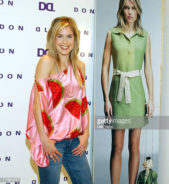 Helen Svedin during Helen Svedin Launches Don Algodon Spring/Summer Collection at Don Algodon in Madrid Spain