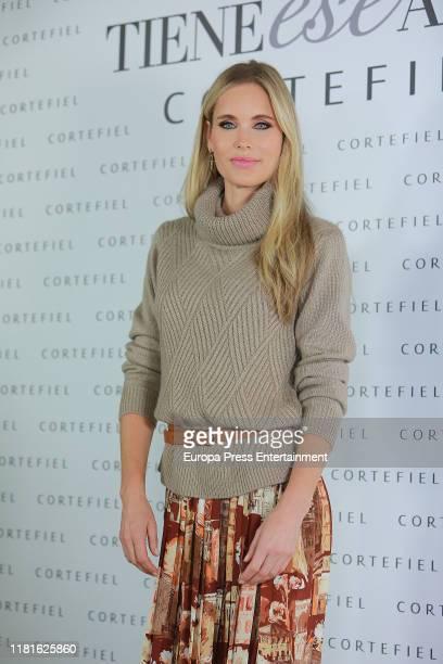 Helen Svedin presents new Cortefiel campaign at Los Gallos on October 17 2019 in Madrid Spain