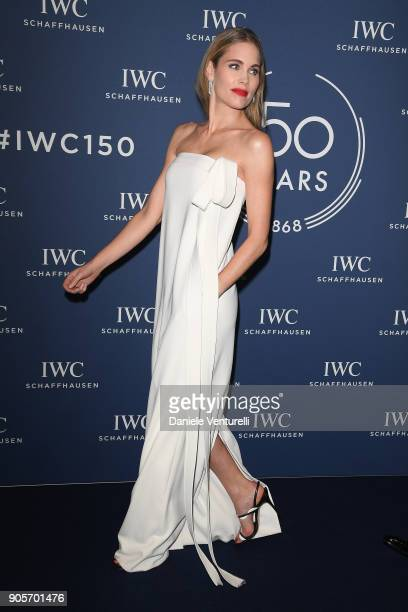 Helen Svedin walk the red carpet for IWC Schaffhausen at SIHH 2018 on January 16 2018 in Geneva Switzerland