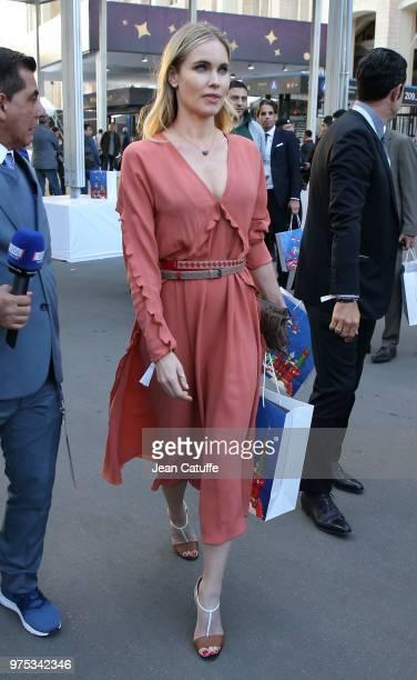 Helen Svedin wife of Luis Figo following the 2018 FIFA World Cup Russia group A match between Russia and Saudi Arabia at Luzhniki Stadium on June 14...