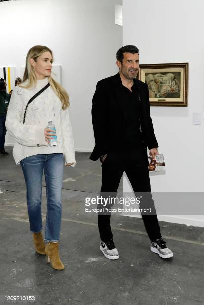 Helen Swedin and Luis Figo attend ARCO Art Fair 2020 at Ifema on February 27 2020 in Madrid Spain
