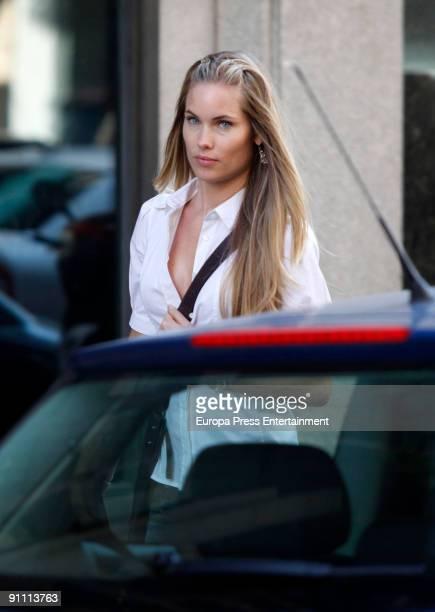 Helen Swedin is seen shopping in Madrid on September 23 2009 in Madrid Spain