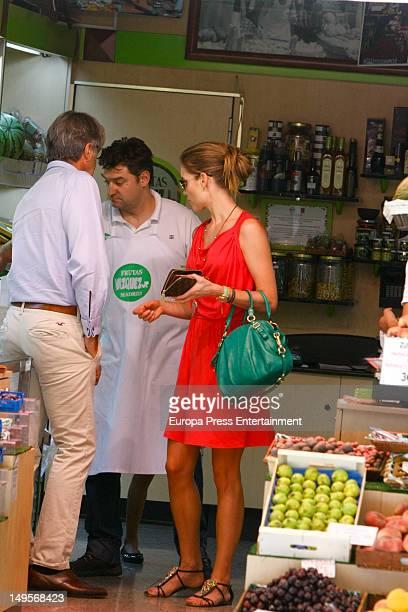 Helen Swedin wife of Luis Figo is seen shopping on July 30 2012 in Madrid Spain