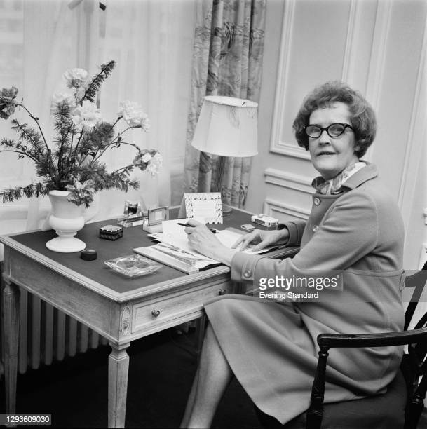 Helen Thurber, the widow of American cartoonist and writer James Thurber, UK, 14th May 1968.