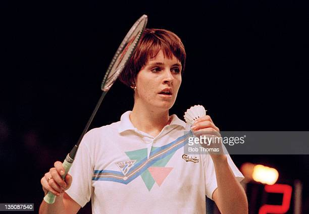 Helen Troke of England during the All England Badminton Championships at Wembley Arena in London circa March 1990