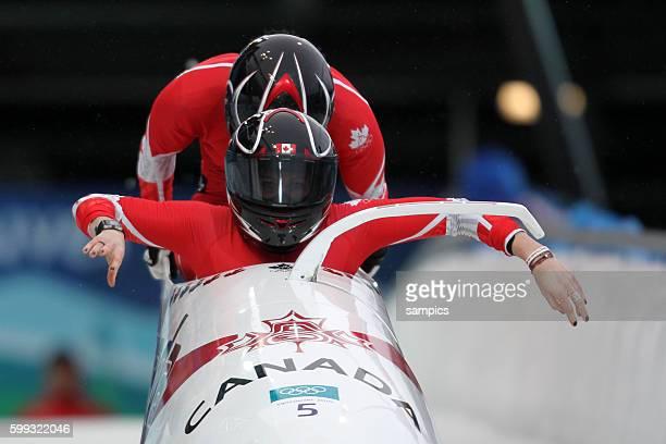 Helen Upperton und Ann Shelley Brown CAN 2 er Bob der Frauen Olympische Winterspiele in Vancouver 2010 Kanada olympic winter games Vancouver 2010...