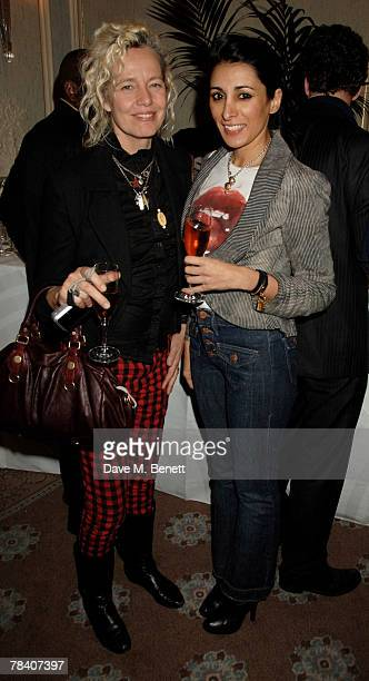 Helen Van Unvas and Serena Rees attend the after party following the exhibition by Tim Noble and Sue Webster at the Gagosian Gallery Davies Street at...