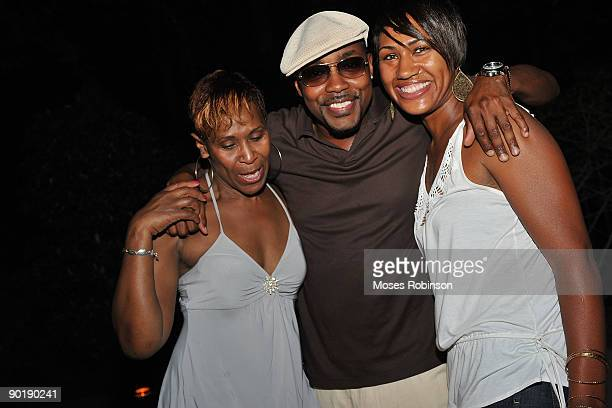Helen Vaughn Will Packer and Tracy Ward attend Terri J Vaughn's birthday party at a Private Residence on August 29 2009 in Atlanta Georgia