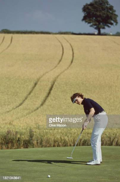Helen Wadsworth of Wales putting on the green during the Guardian Irish Holidays Open golf tournament on 27th July 1995 at the St Margarets Golf Club...