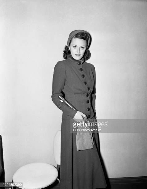 Helen Ward models a soft wool suit, selected by fashion stylist and critic Elizabeth Hawes. Image dated: September 18 New York NY.