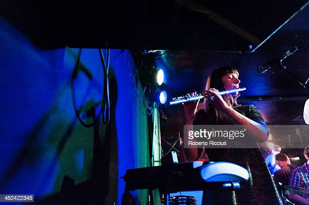 Helen Whitaker of The Leisure Society performs on stage at Electric Circus on November 28 2013 in Edinburgh United Kingdom