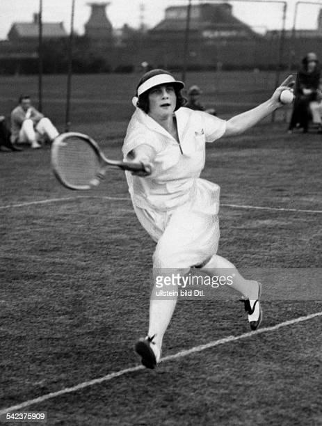 Helen Wills beim Spiel 1924