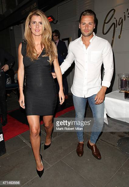 Helen Wood and James Hill attending the Hot Gossip launch party at Gigi's on April 28 2015 in London England