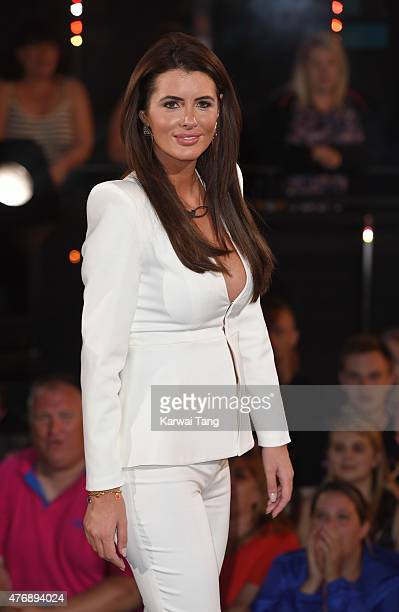 Helen Wood enters the Big brother house at Elstree Studios on June 12 2015 in Borehamwood England