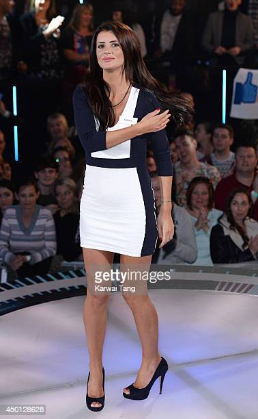 Helen Wood enters the Big Brother house during the Big Brother Power Trip Live Launch at Elstree Studios on June 5 2014 in Borehamwood England