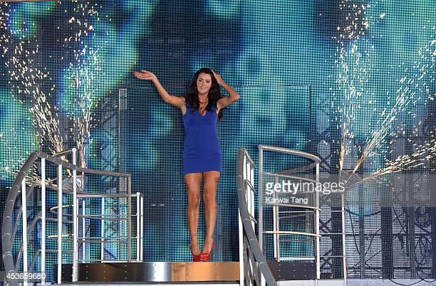 Helen Wood is crowned the winner of Big Brother 2014 at Elstree Studios on August 15 2014 in Borehamwood England