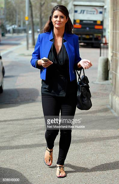 Helen Wood seen at the ITV Studios after an appearance on 'This Morning' on May 6 2016 in London England