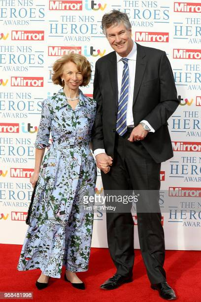 Helen Worth and Husband Trevor Dawson attend the 'NHS Heroes Awards' held at the Hilton Park Lane on May 14, 2018 in London, England.