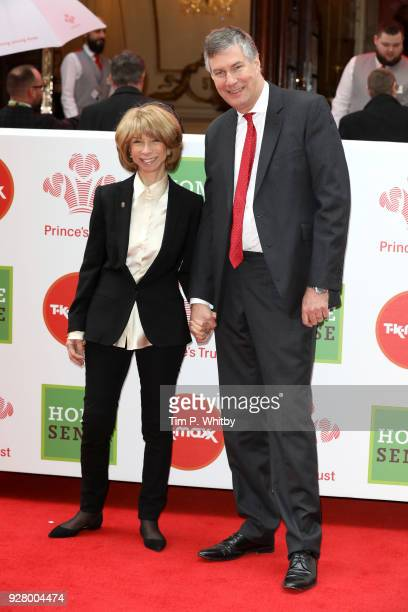 Helen Worth and husband Trevor Dawson attend 'The Prince's Trust' and TKMaxx with Homesense Awards at London Palladium on March 6, 2018 in London,...