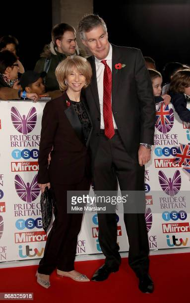 Helen Worth and Trevor Dawson attend the Pride Of Britain Awards at Grosvenor House, on October 30, 2017 in London, England.