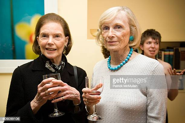 Helen Wright and Ioline Scheerer attend Spring Benefit for the Ricardo O'Gorman Garden and Center for Resources in the Humanities at 708 Greenwich...