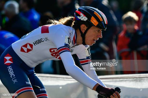 Helen Wyman from Great Britain during the Women's Elite race at the European Cyclocross Championships - Day Three on November 4, 2018 in...
